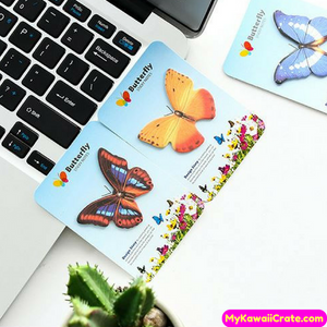 2 Pc Cute Colorful Butterfly Sticky Memo Notes