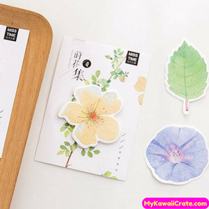 2 Pc Creative Leaf & Flower Sticky Notes
