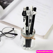 2 Pc Cute Kawaii Cat Rollerball Gel Pens