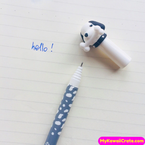 2 Pc Cute Puppy Dog and Bone Erasable Gel Pens