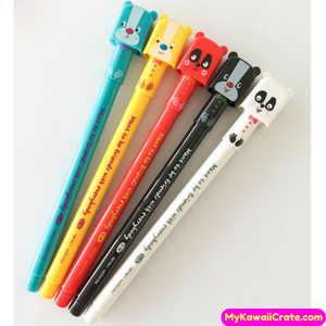 2 Pc Cute Kawaii Friendly Bear Gel Pens