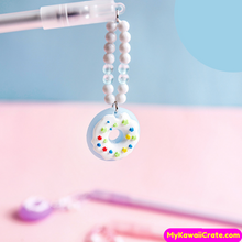 2 Pc Frosted Donuts Pendant Gel Pens