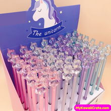 2 Pc Kawaii Crystal Unicorn Gel Pens