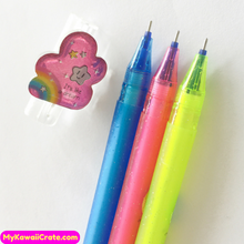 2 Pc Kawaii Dream Rainbow Erasable Gel Pens