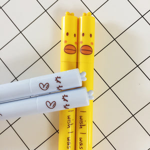 4 Pc Kawaii Duck Gel Pen Set
