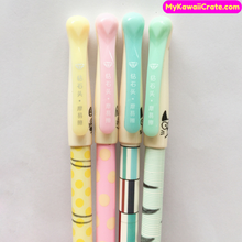 2 Pc Kawaii Emoji Cat Erasable Gel Pens