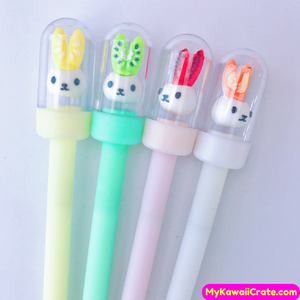 2 Pc Kawaii Fruitty Ears Rabbit Gel Pens