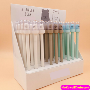 2 Pc Kawaii Lovely Astronaut Bear Gel Pens