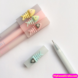 2 Pc Kawaii Lucky Fish Silicone Gel Pens