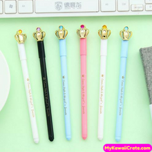 4 Pc Cute Kawaii Princess Crown Gel Pens
