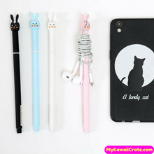 2 Pc Cute Kawaii Utility Rabbit Gel Pens