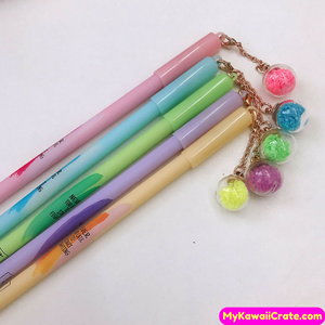2 Pc Glow in the Dark Pendant Motivational Gel Pens