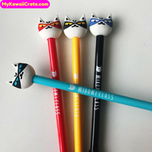 2 Pc Kawaii Ninja Cat Gel Pens