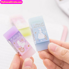 2 Pc Pastel Fairy Tale Princess Double Color Pencil Erasers