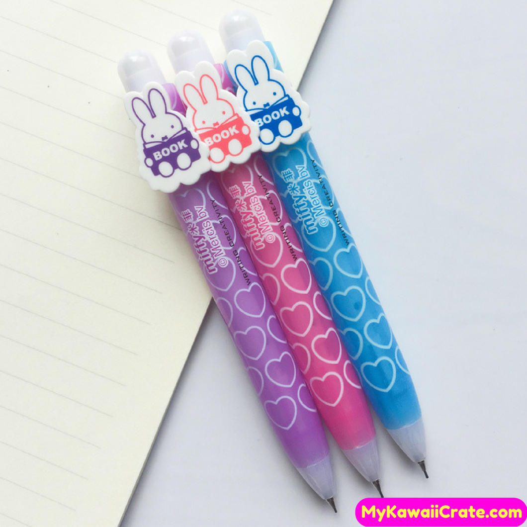 2 Pc Pocket Size Kawaii Miffy Rabbit Mechanical Pencils