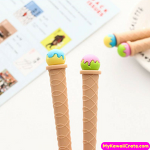 2 Pc Sweet Ice Cream Gel Pens