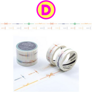 2 Pc The Story of the Flowers Washi Tapes / Masking Tape