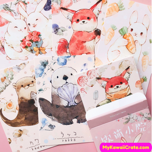 Kawaii Animals Postcard Set