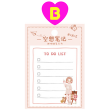 Sweet Girl To Do List Memo Notes