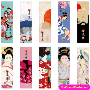 Japanese Girl Bookmark Pack