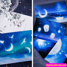 glow in the dark postcards