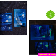 30 Pc Pack Luminous Stars Fantasy Glow in the Dark Postcards