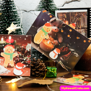 30 Pc Pk Merry Christmas Gingerbread Postcards