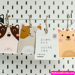 30 Pc Pk Always Be With You Cartoon Animals Mini Postcards