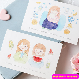 Cartoon Girls Postcards