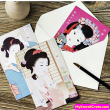 30 Pc Pk Japanese Geisha Maiko Mini Postcards