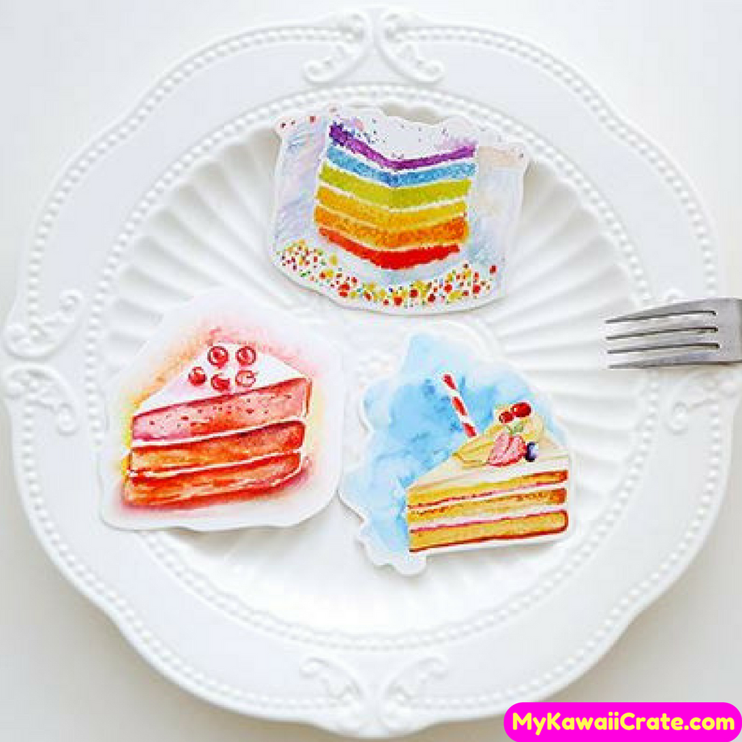 Sweet Birthday Cake Mini Postcards / Greeting Cards 30 Pc Set