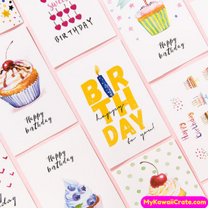 30 Pc Pack Sweet Bithday Celebration Mini Postcards
