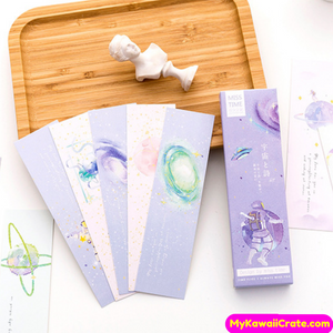 30 Pc Pack Universal Poetry Bookmarks Set ~ Astronaut Galaxy Space Bookmarks