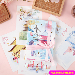 30 Pc Pack Creative Japanese Illustration Postcards