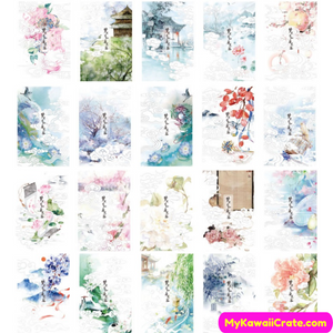 30 Pc Pack Dreams of Asia Glow in the Dark Postcards