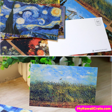30 Pc Van Gogh Oil Painting Style Mini Postcards ~ Famous Oil Painting Style Cards