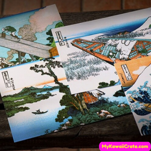 36 Pc Pack Japanese Ukiyo-e Painting Large Postcards