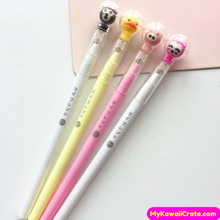 3 Pc Kawaii Astronaut Animals Gel Pens