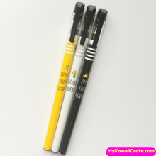 3 Pc Bright Day Motivational & Funny Message Gel Pens