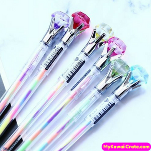 3 Pc Colorful Diamond Multicolor Ink Gel Pens