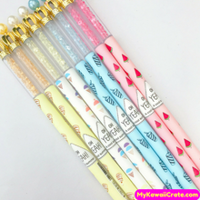 4 Pc Cool Summer Crown Pearl Crystals Erasable Gel Pens