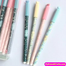 3 Pc Fresh Flowery Heart Cap Gel Pens