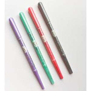 3 Pc Girls Wanna Have Fun Crystal Heart Slim Gel Pens