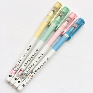 3 Pc Japanese Kawaii Cat Erasable Gel Pens