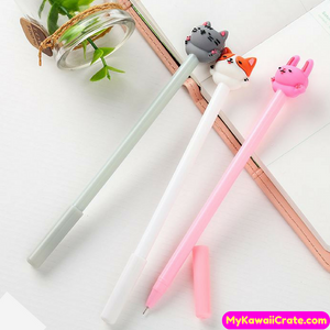 3 Pc Kawaii Best Buddies Cat Dog Rabbit Gel Pens