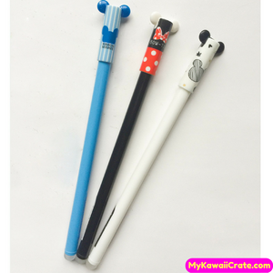 3 Pc Kawaii Big Ears Mouse Erasable Gel Pens