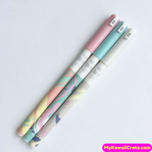 3 Pc Lovely Life Abstract Art Pastel Colors Gel Pens