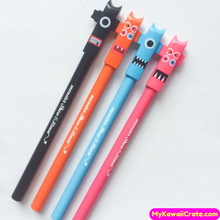3 Pc Funny Monster Show Robot Gel Pens