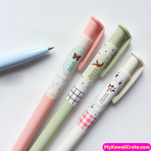 3 Pc Nature Sweet Love Bird Butterfly Plants Ballpoint Pens