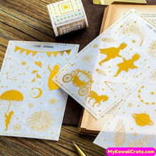 3 Pc Pk Cute Kawaii Whimsical Gilding Decorative Stickers